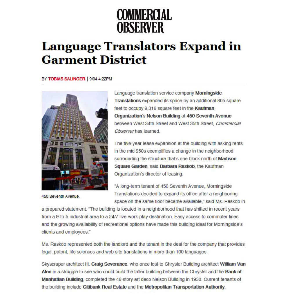 Commercial-Observer---Language-Translators-Expand-in-Garment-District---9.4.14