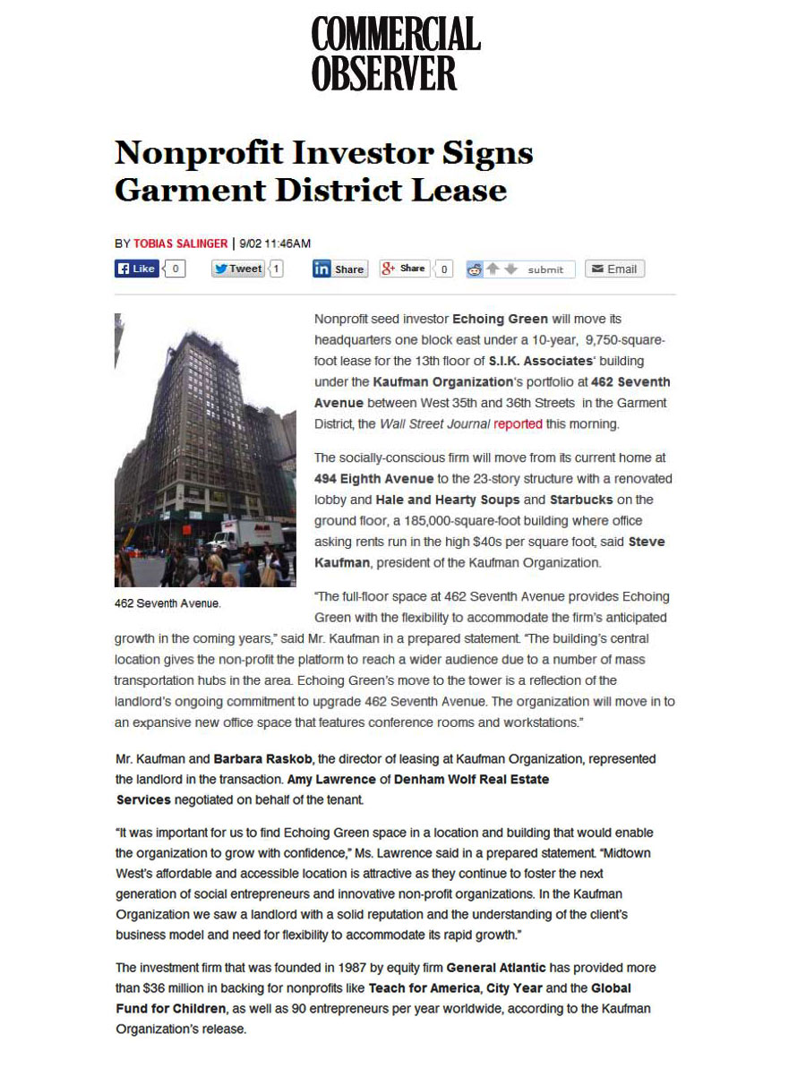 Commercial-Observer---Nonprofit-Investor-Signs-Garment-District-Lease---9.2.14