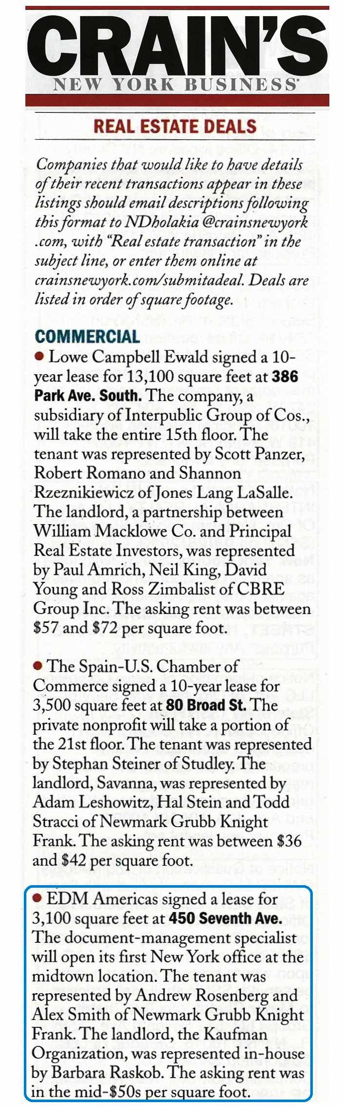 Crain's-New-York-Business,-Real-Estate-Deals-450-Seventh-Ave,-3.23.2014