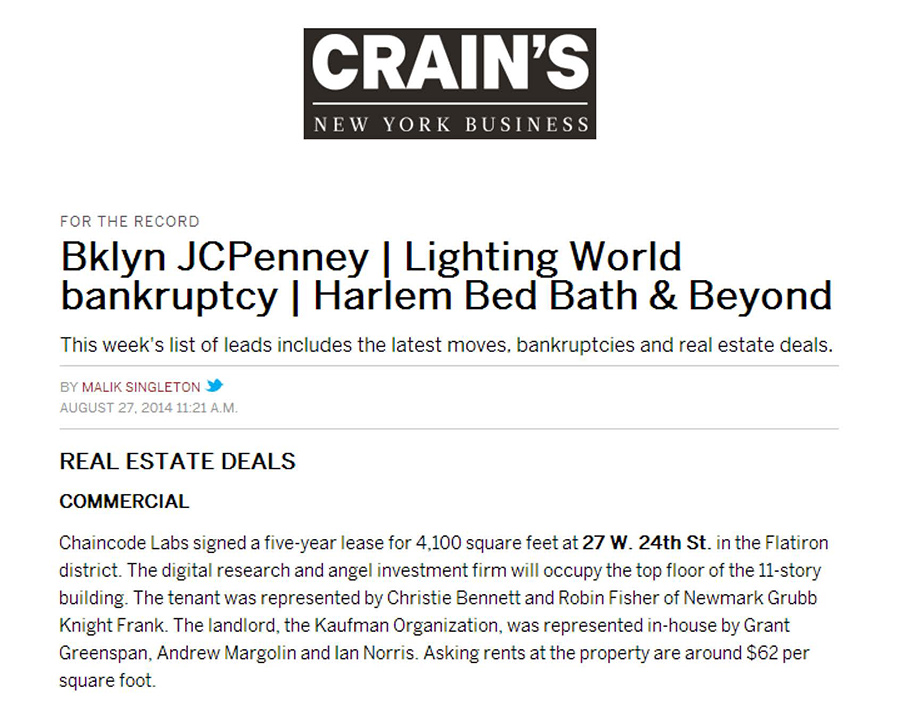 Crain's-New-York-Business---Real-Estate-Deals---8.27.14