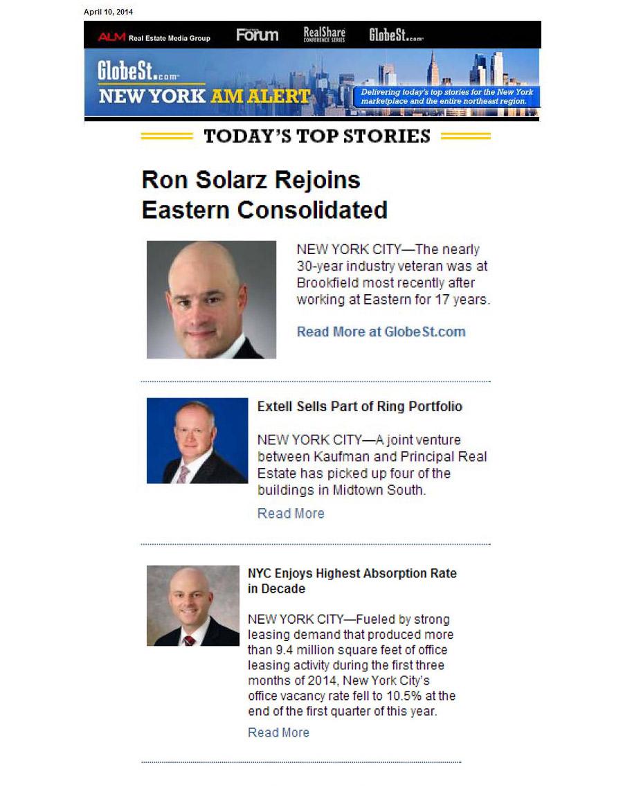 GlobeSt.com-New-Yorm-AM-Alert,-Extell-Sells-Part-of-Ring-Portfolio,-4.10.2014