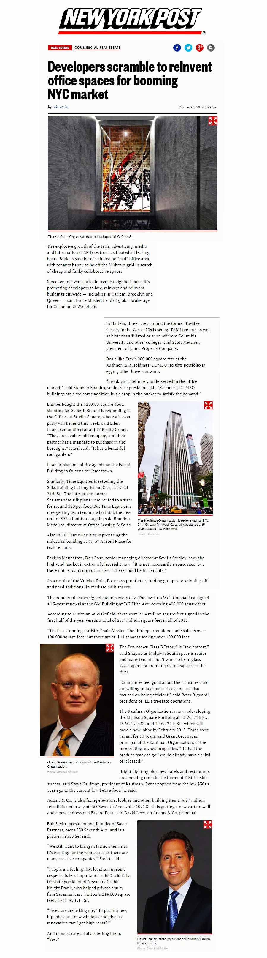 New-York-Post,-Developers-scramble-to-reinvent-office-spaces-for-booming-NYC-market-(online)---10.21