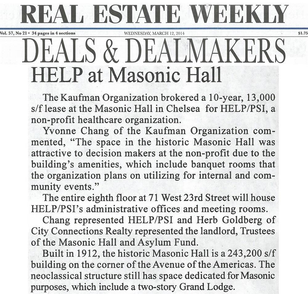 Real-Estate-Weekly,-HELP-at-Masonic-Hall,-3.12.2014