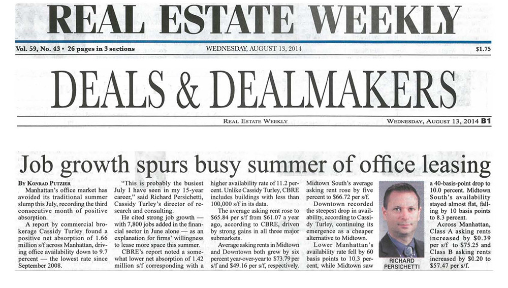 Real-Estate-Weekly---Job-growth-spurs-busy-summer-of-office-leasing---8.14.14