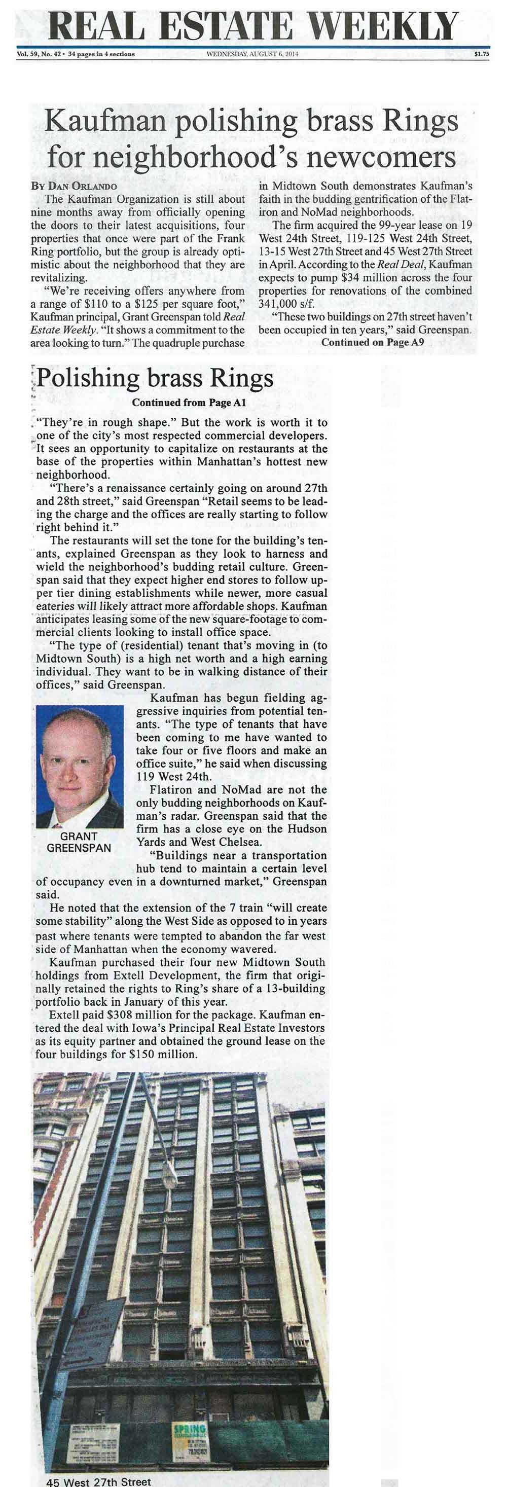 Real-Estate-Weekly---Kaufman-polishing-brass-Rings-for-neighborhood's-newcomers---8.6.14