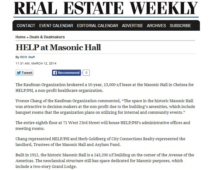 Real-Estate-Weekly-(Online),-HELP-at-Masonic-Hall,-3.12.2014
