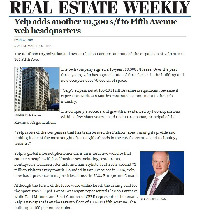 Real-Estate-Weekly-(Online),-Yelp-adds-another-10,500-sf-to-Fifth-Avenue-web-headquarters,-3.25