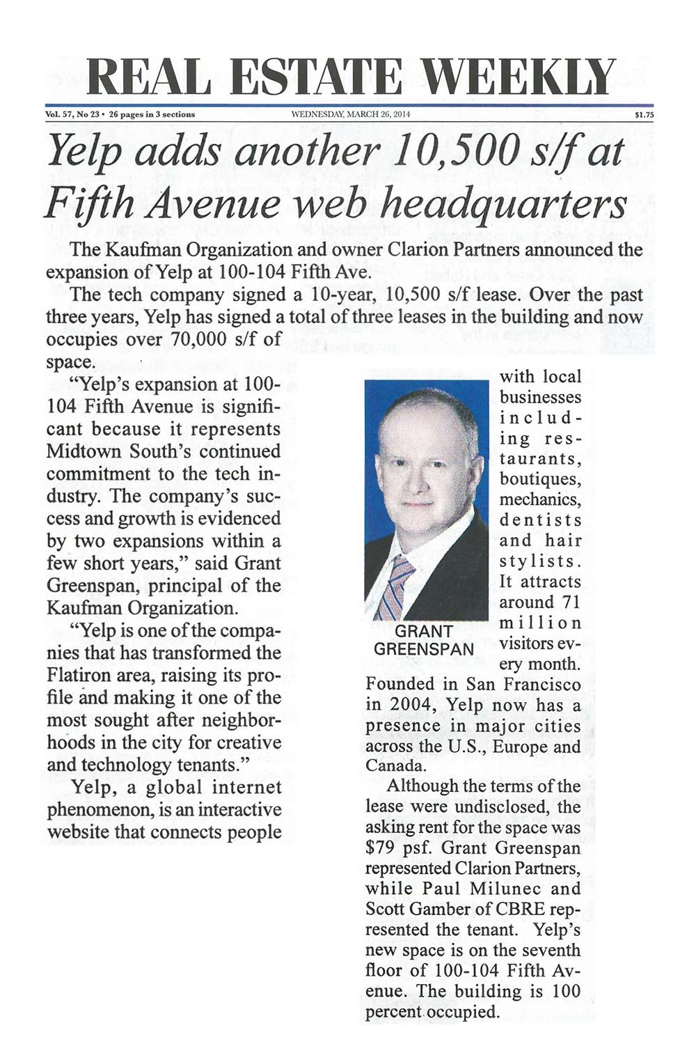 Real-estate-Weekly---Yelp-adds-another-10,500-sf-at-Fifth-Avenue-web-headquarters,-3.26.2014