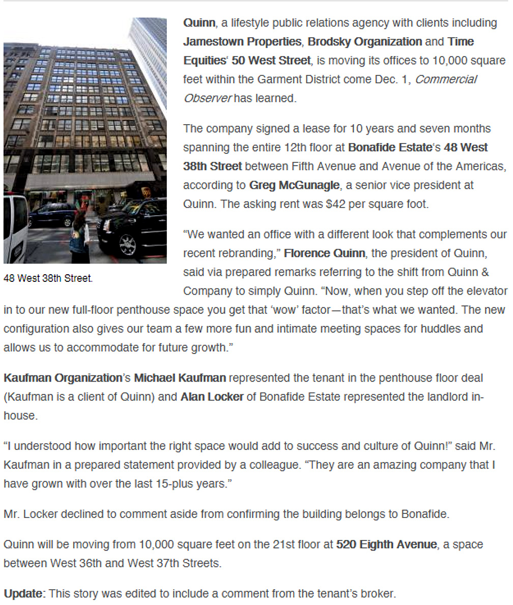 Commercial-Observer---11-25-15-Lifestyle-PR-Firm-Moving-to-48-West-38th-Street-[U..