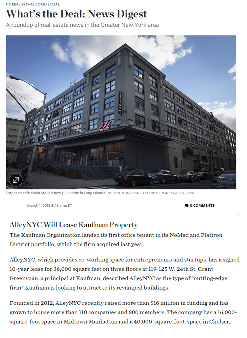 The-Wall-Street-Journal---3-1-15-AlleyNYC-at-119-125-West-24th-Street
